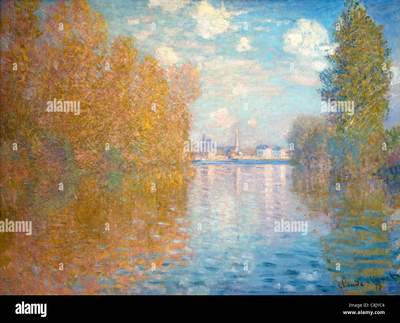 Autumn Effect at Argenteuil, by Claude Monet, 1873, Courtauld Galleries, Somerset House, London, England, UK, United - Stock Image