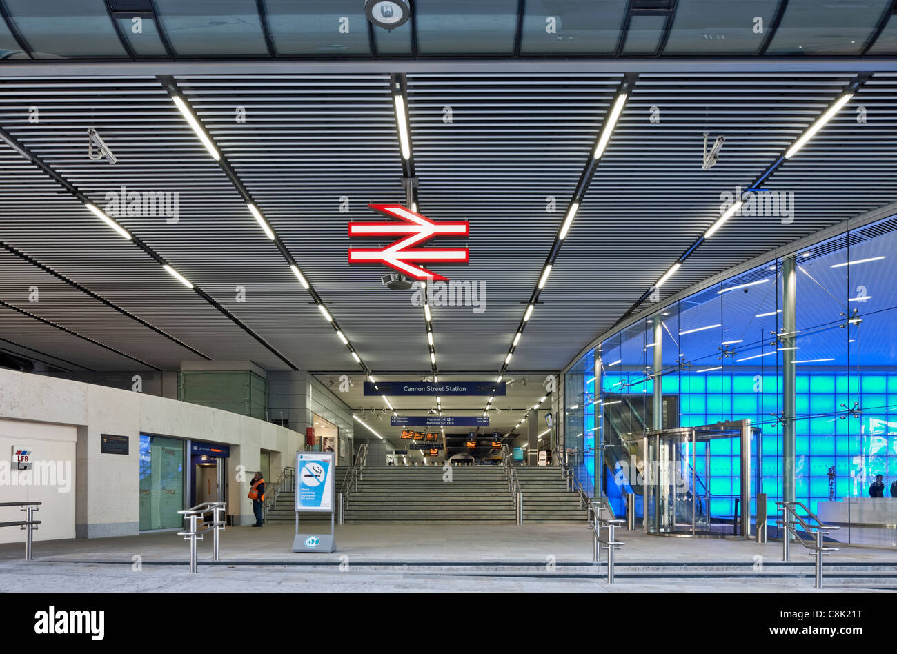Cannon Street Station in the City of London - Stock Image