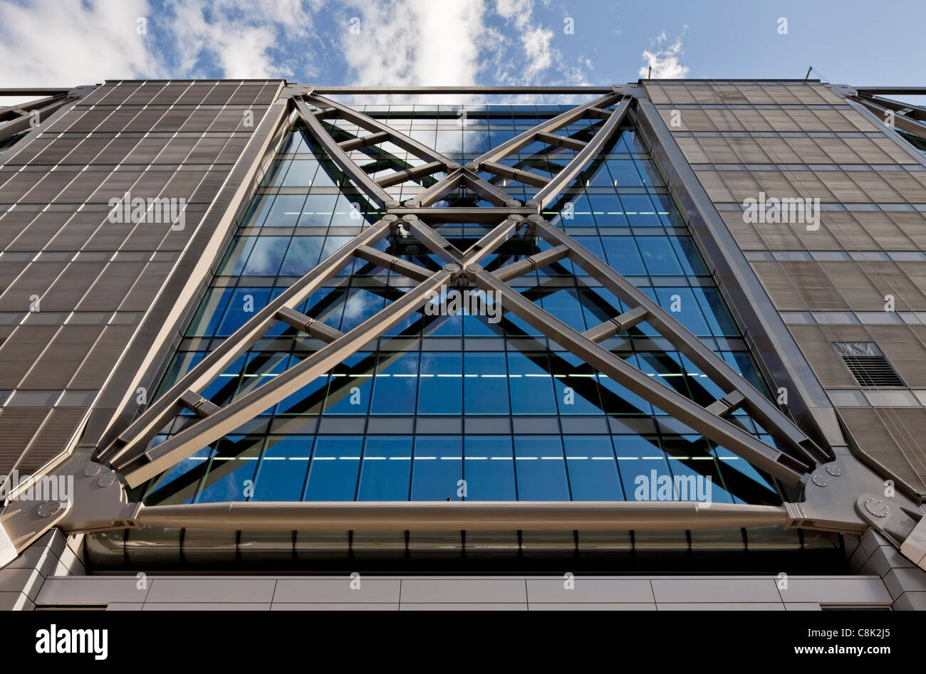 Steelwork on Cannon Place offices in the City of London. - Stock Image