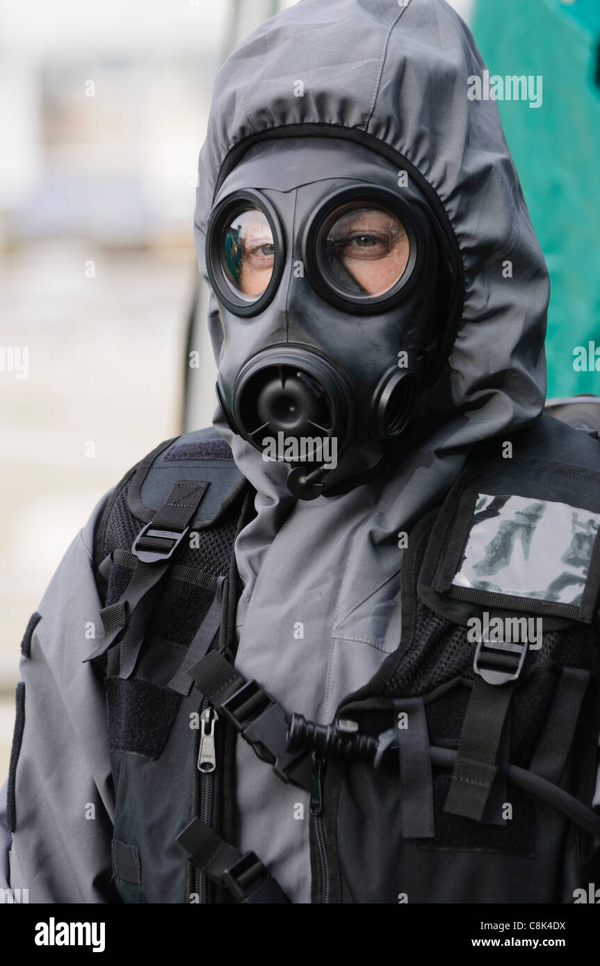 Paramedics wearing Quick Don Protective Suits during the launch of Northern Ireland Ambulance Service (NIAS) Hazardous - Stock Image