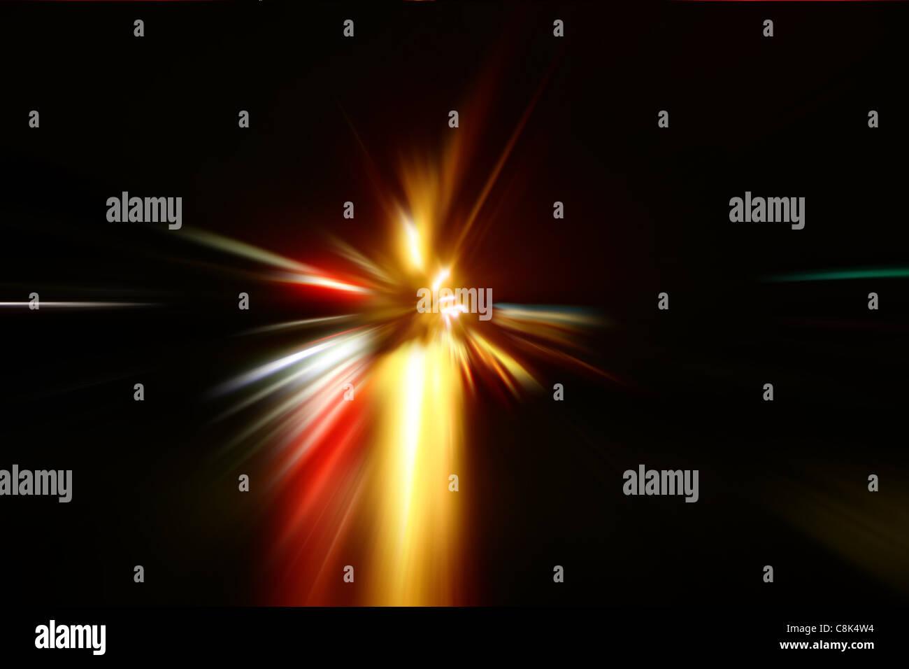 zoom acceleration motion - Stock Image