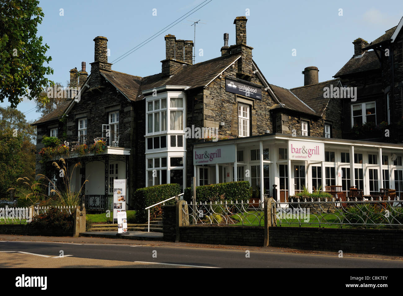 The Waterhead Bar and Grill Ambleside - Stock Image