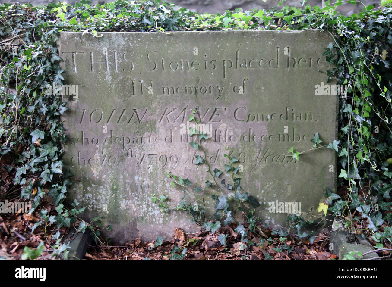 The Grave of John Kane in Buxton who died after eating hemlock instead of horseradish Stock Photo