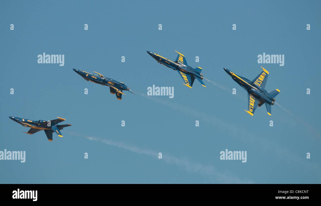 Blue Angels Display Team US Navy Stock Photo