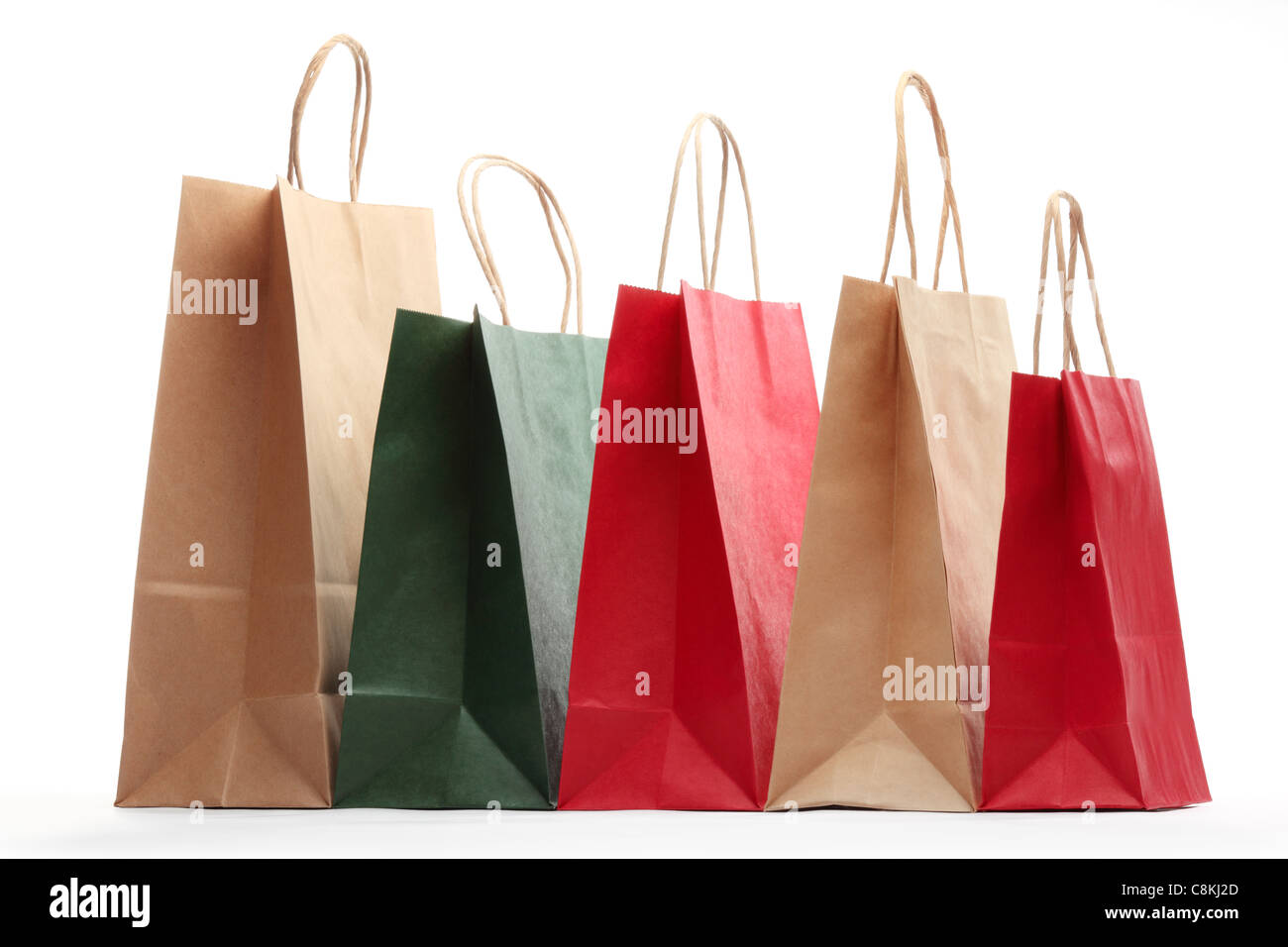 Shopping bags isolated on white background. - Stock Image