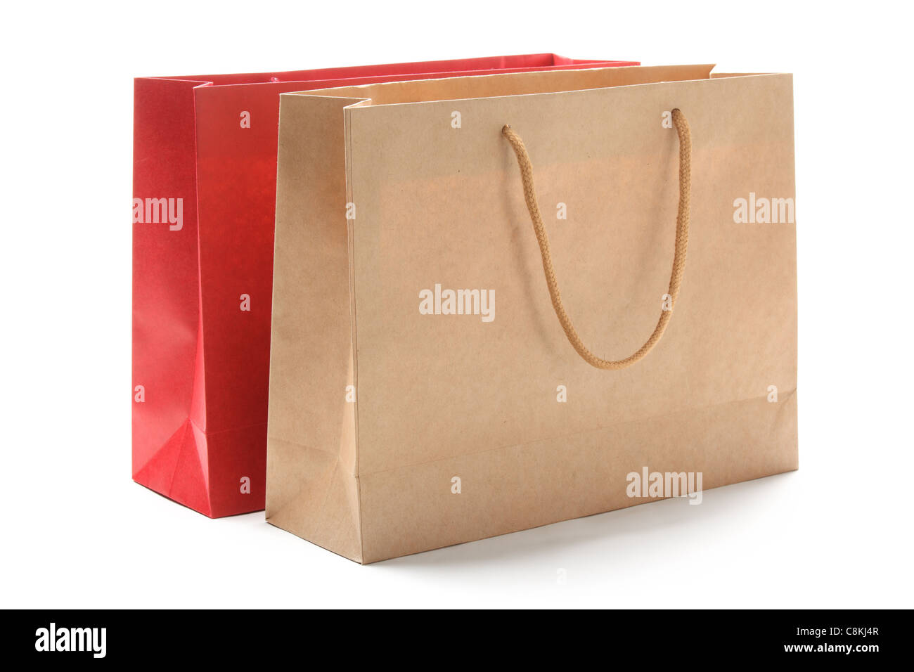 Paper bags isolated on white. - Stock Image