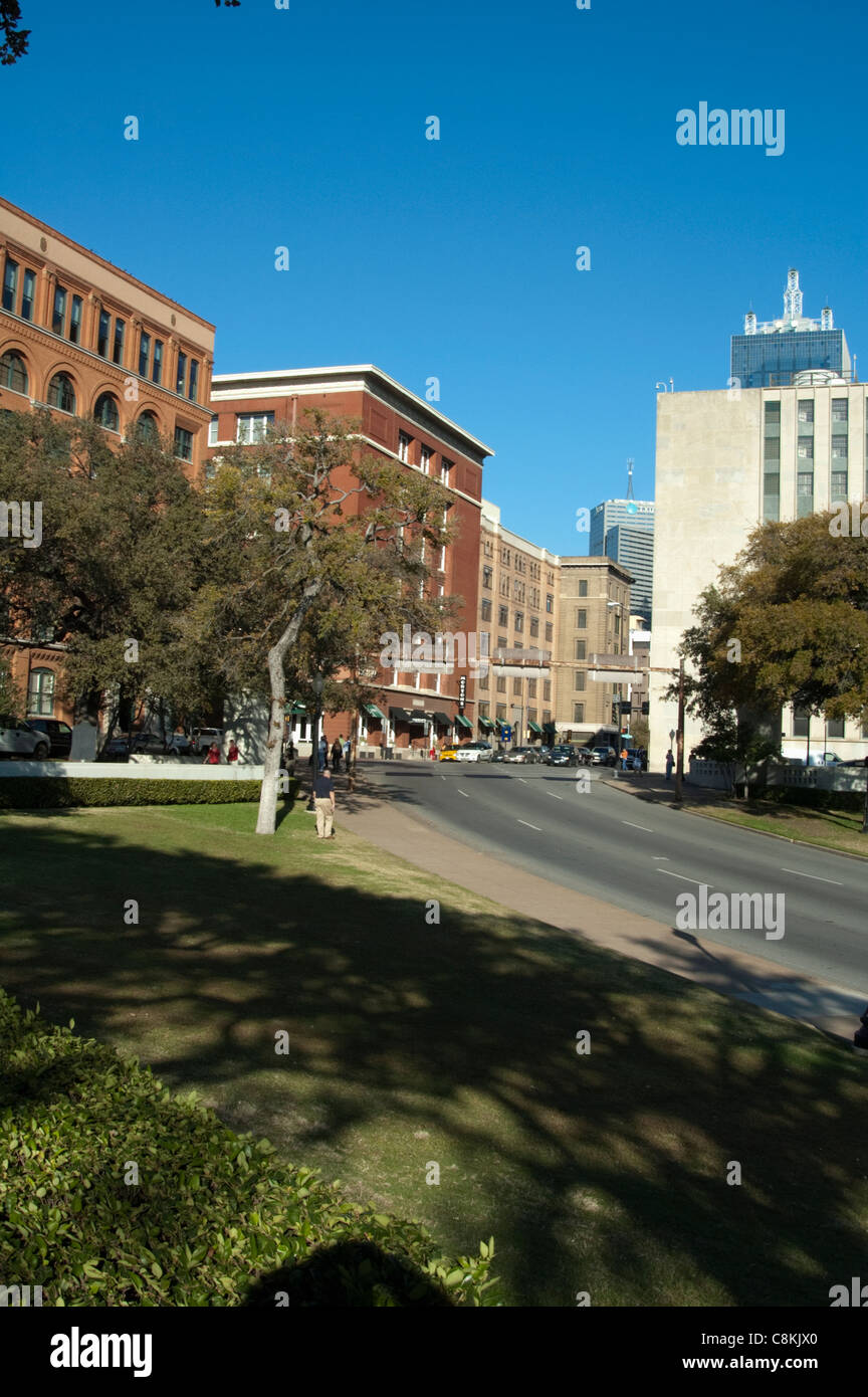 Area Where President Kennedy Killed Shot Assassinated - Stock Image