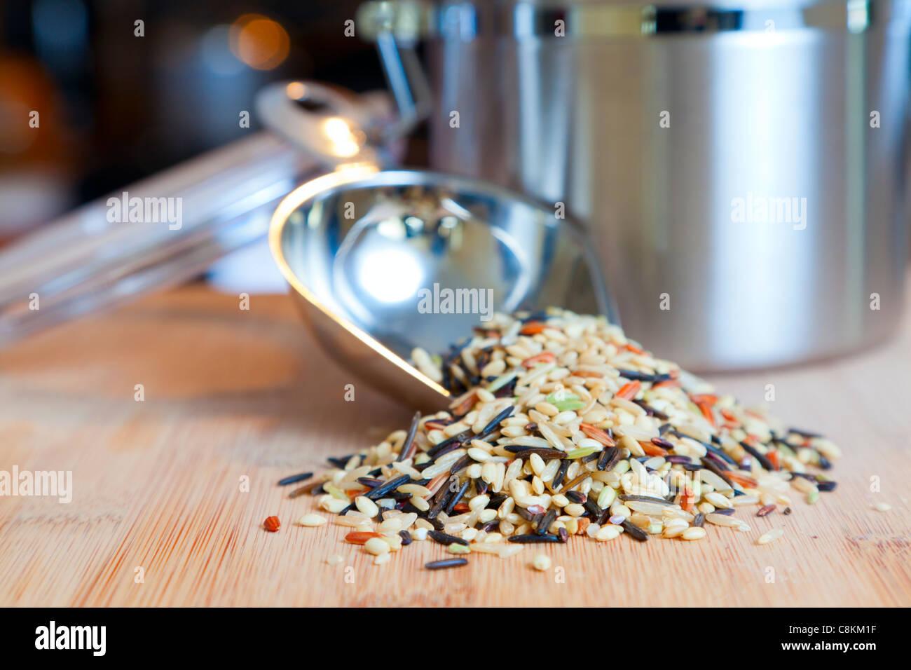 Wild rice - Stock Image