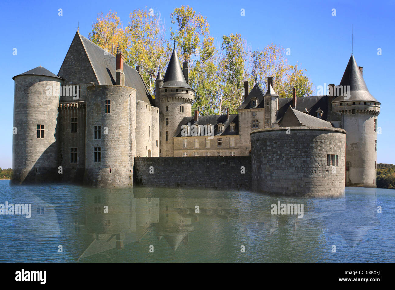 photo of a historic castle in France - Stock Image
