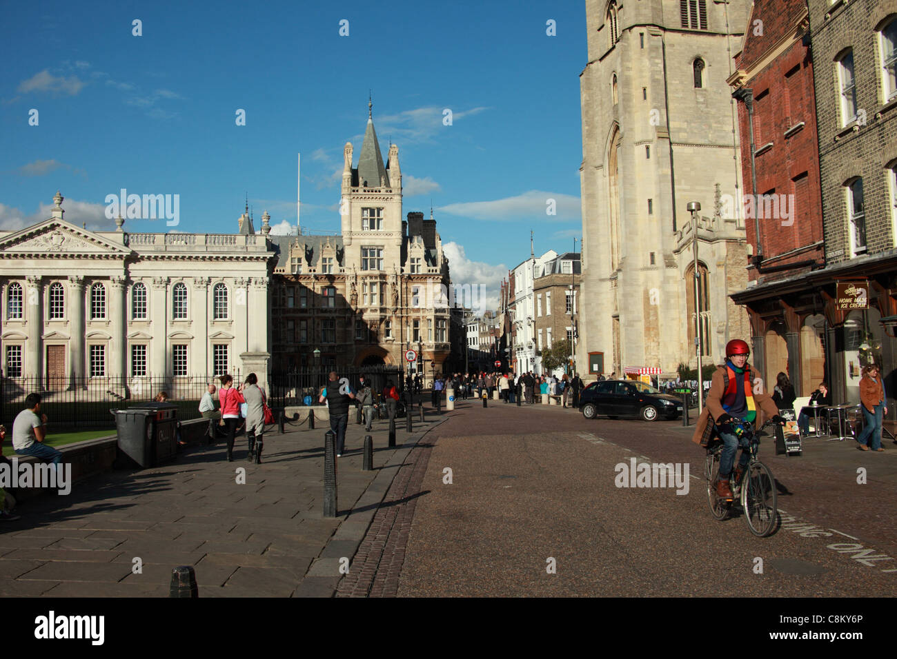 King's Parade, Cambridge, UK - Stock Image