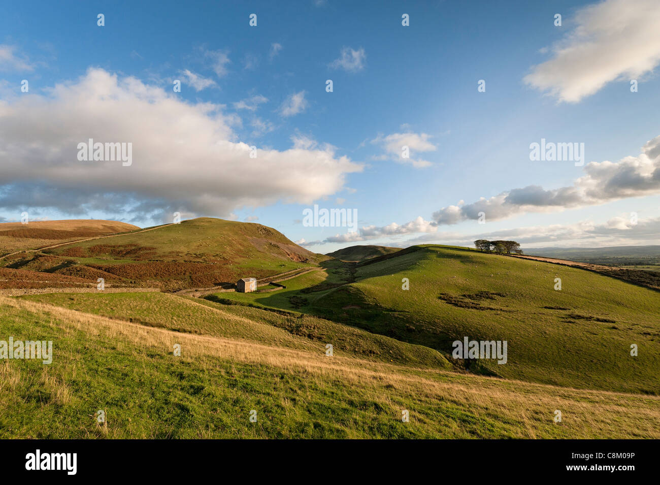 North West Pennines from the Pennine Way near Dufton in Cumbria - Stock Image