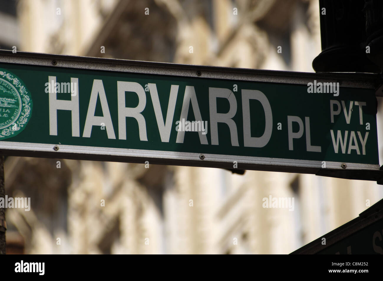 Indication of Harvard Square. Boston. Massachusetts. United States. - Stock Image