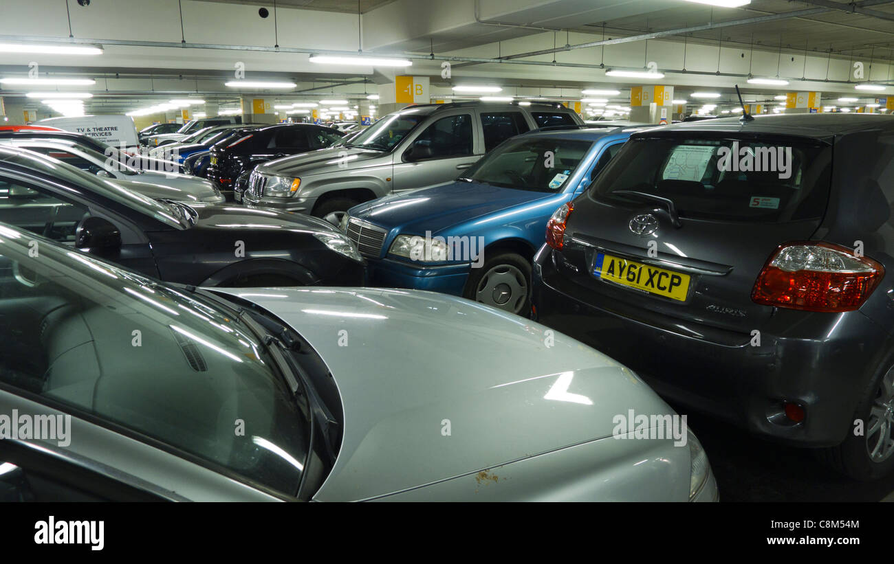 Cars in a multistorey car park at Chapelfield in Norwich, Norfolk, England. - Stock Image