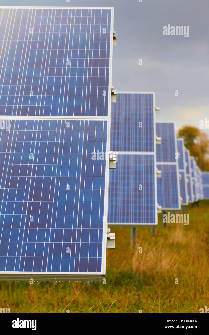 Ferrisburgh Solar Farm facility in Vergennes, Vermont - Stock Image