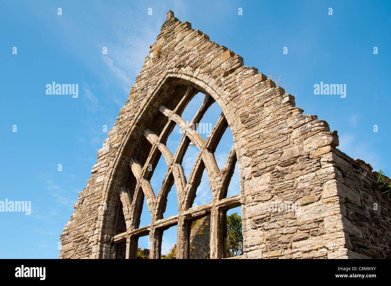 The ruins of St. Peter's Church, circa 1220, Thurso, Caithness, Scotland, UK - Stock Image