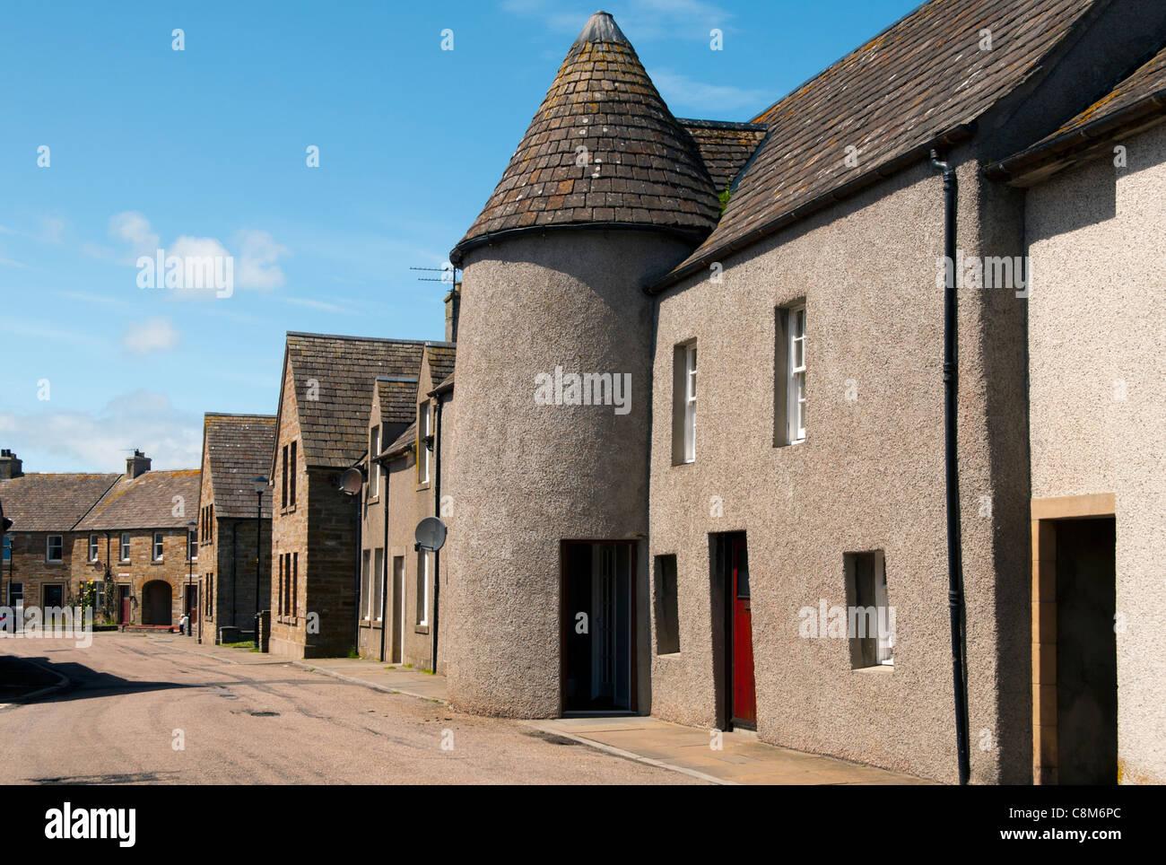Houses in Shore Street, Thurso, Caithness, Scotland, UK - Stock Image