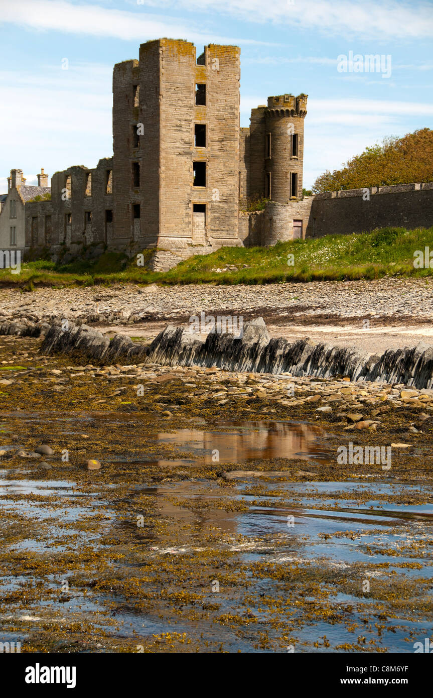 The Castle from the harbour, Thurso, Caithness, Scotland, UK - Stock Image