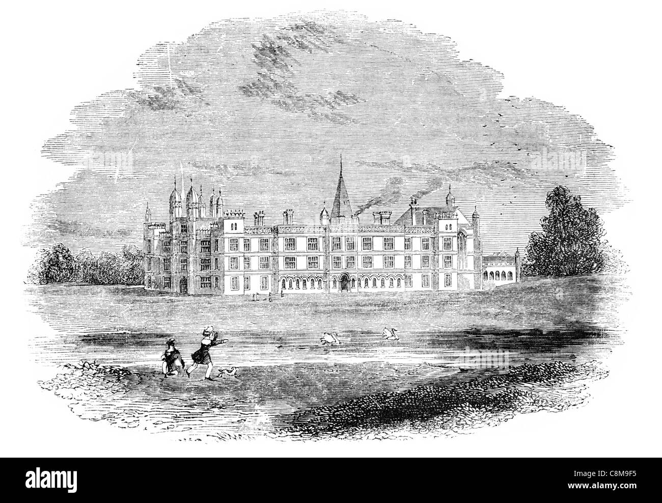 16th Century Burghley house country house Stamford, Lincolnshire Stock Photo