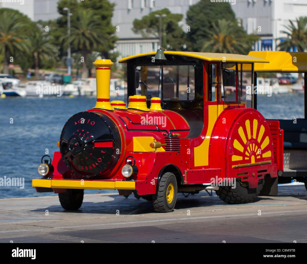 Small city train - Stock Image