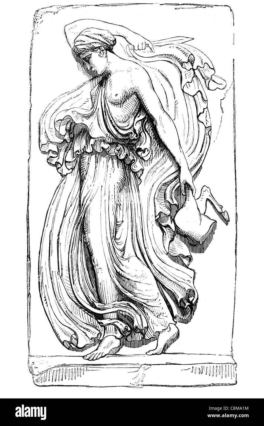 Bacchante Greek mythology maenads  ancient female Dionysus Bacchus Roman pantheon gods god - Stock Image
