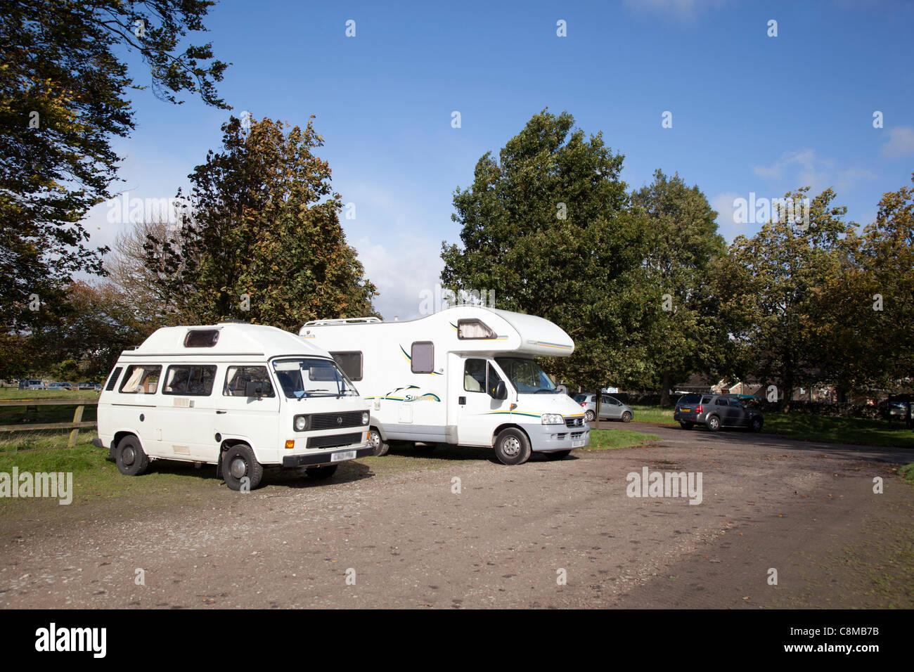 Grassington car park; Yorkshire; dales; UK - Stock Image
