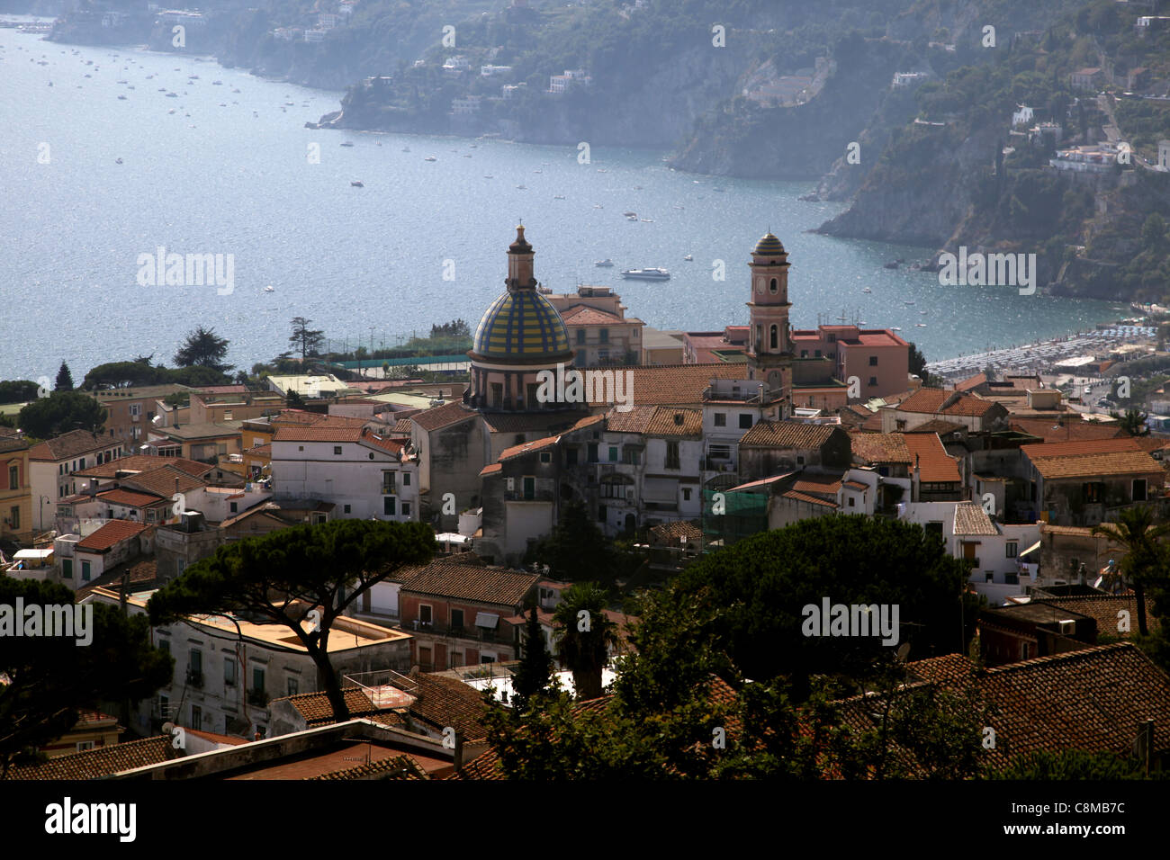 THE HOLY CHURCH OF GIOVANNI BATTISTA VIETRI SUL MARE ITALY 18 September 2011 Stock Photo