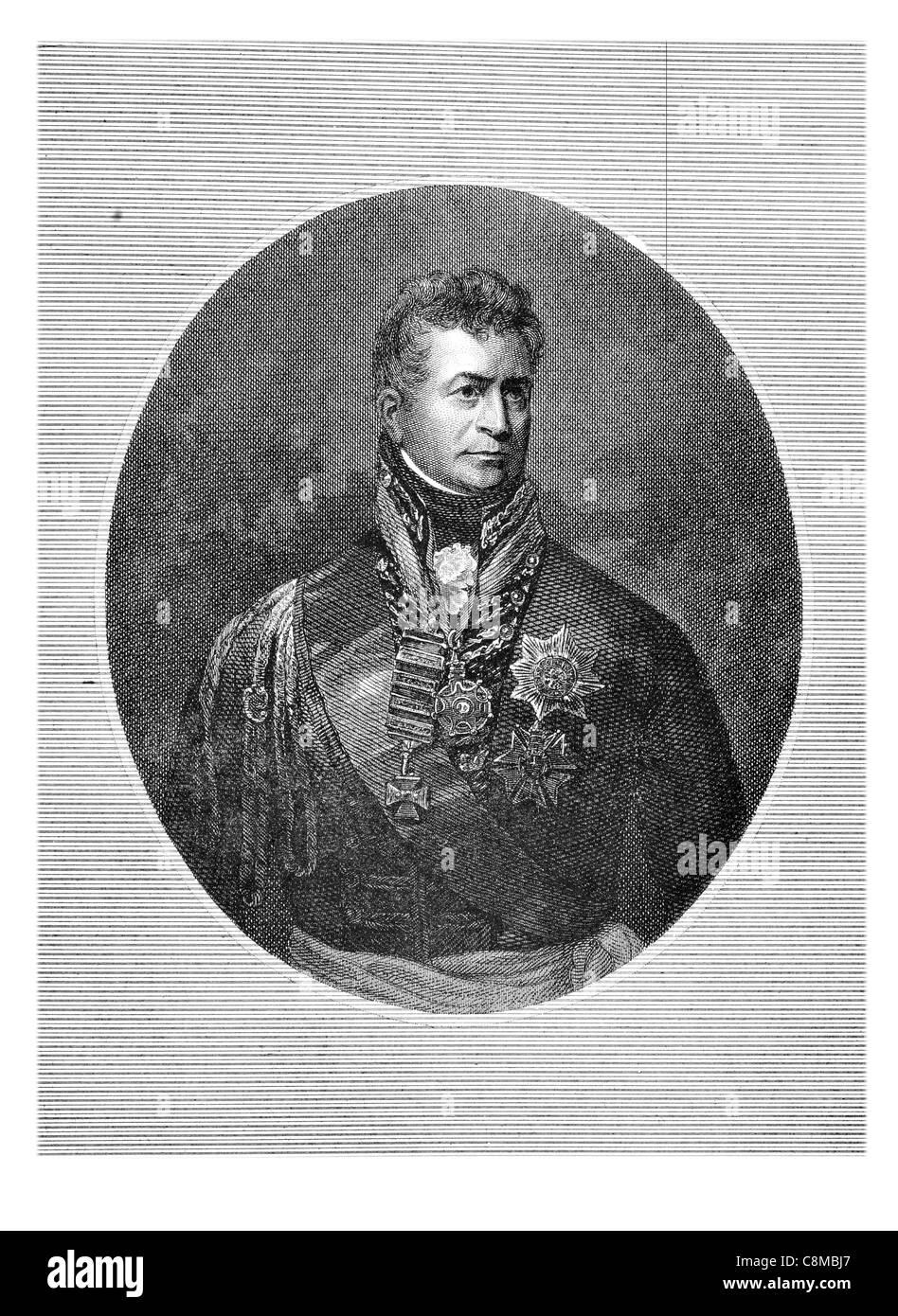 Lieutenant General Sir Thomas Picton 1758 1815 Welsh British Army officer Iberian Peninsular War Battle of Waterloo - Stock Image