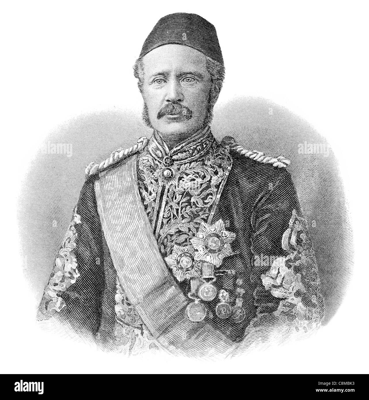 Major-General Charles George Gordon 1833 1885 Chinese Pasha Khartoum British army officer Royal Engineers administrator - Stock Image