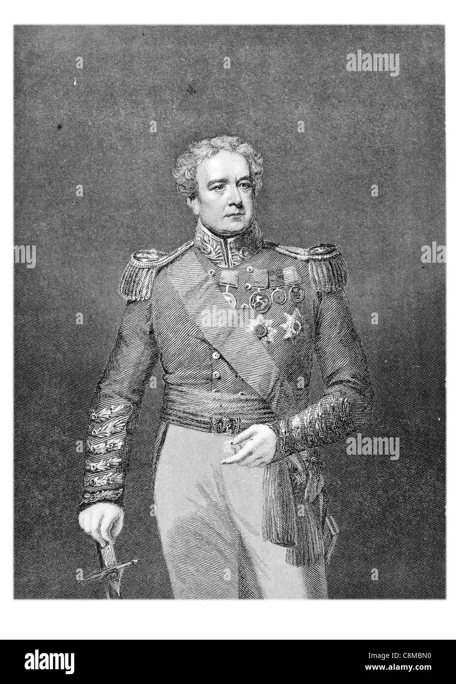 Major General Sir Robert Henry Sale 1782 1845 British Army officer commanded garrison f Jalalabad First Afghan War - Stock Image