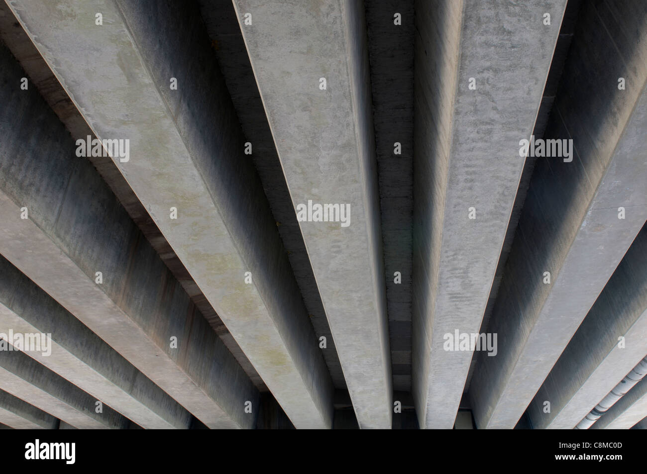 Underneath of M42 flyover, Pooley Country Park, Warwickshire, UK - Stock Image