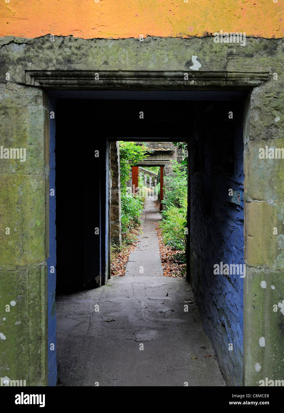 doorways portmeirion italianate village gwynedd north wales uk Stock Photo