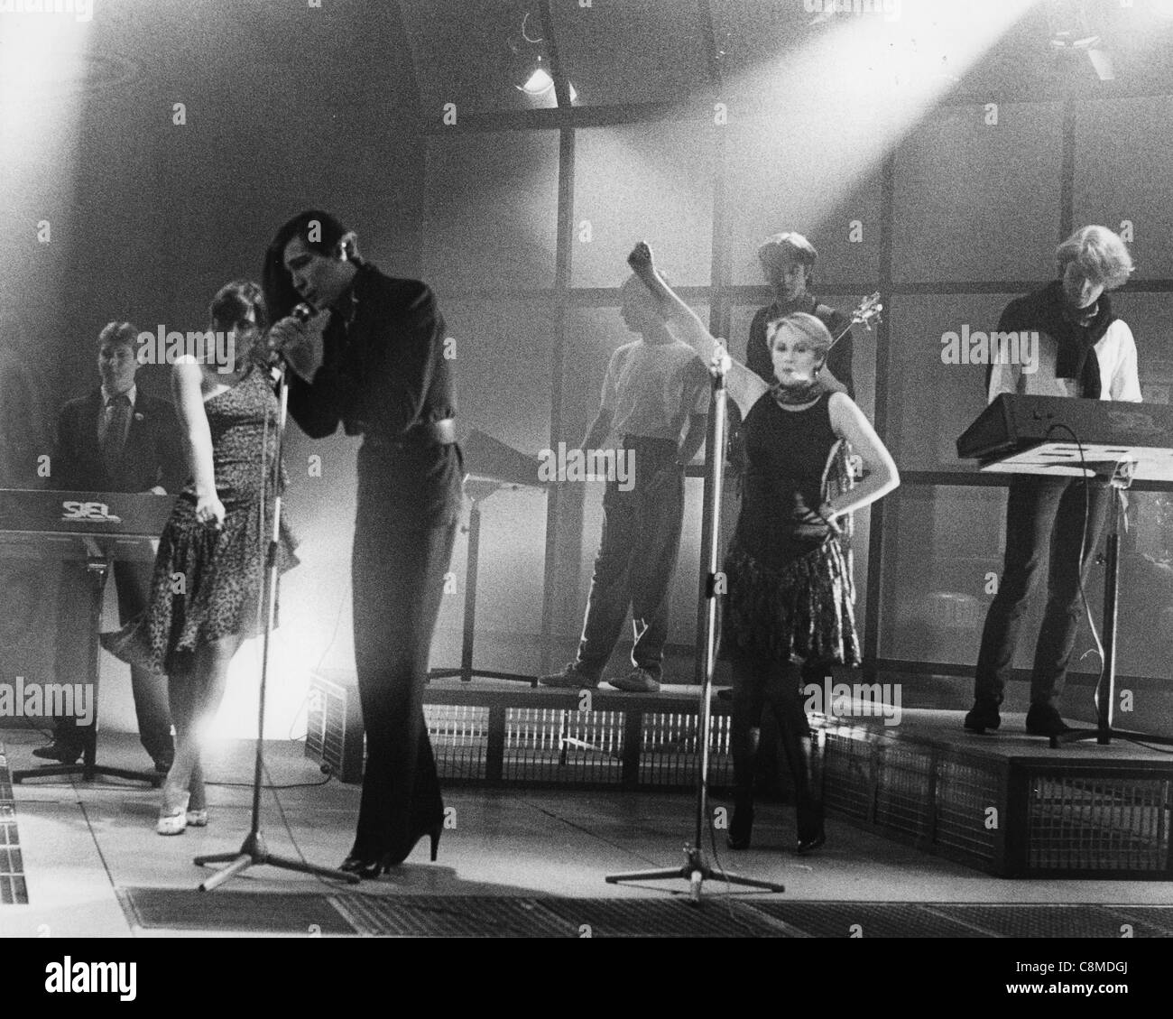 HUMAN LEAGUE  UK pop group in 1982. Photo Laurens van Houten - Stock Image