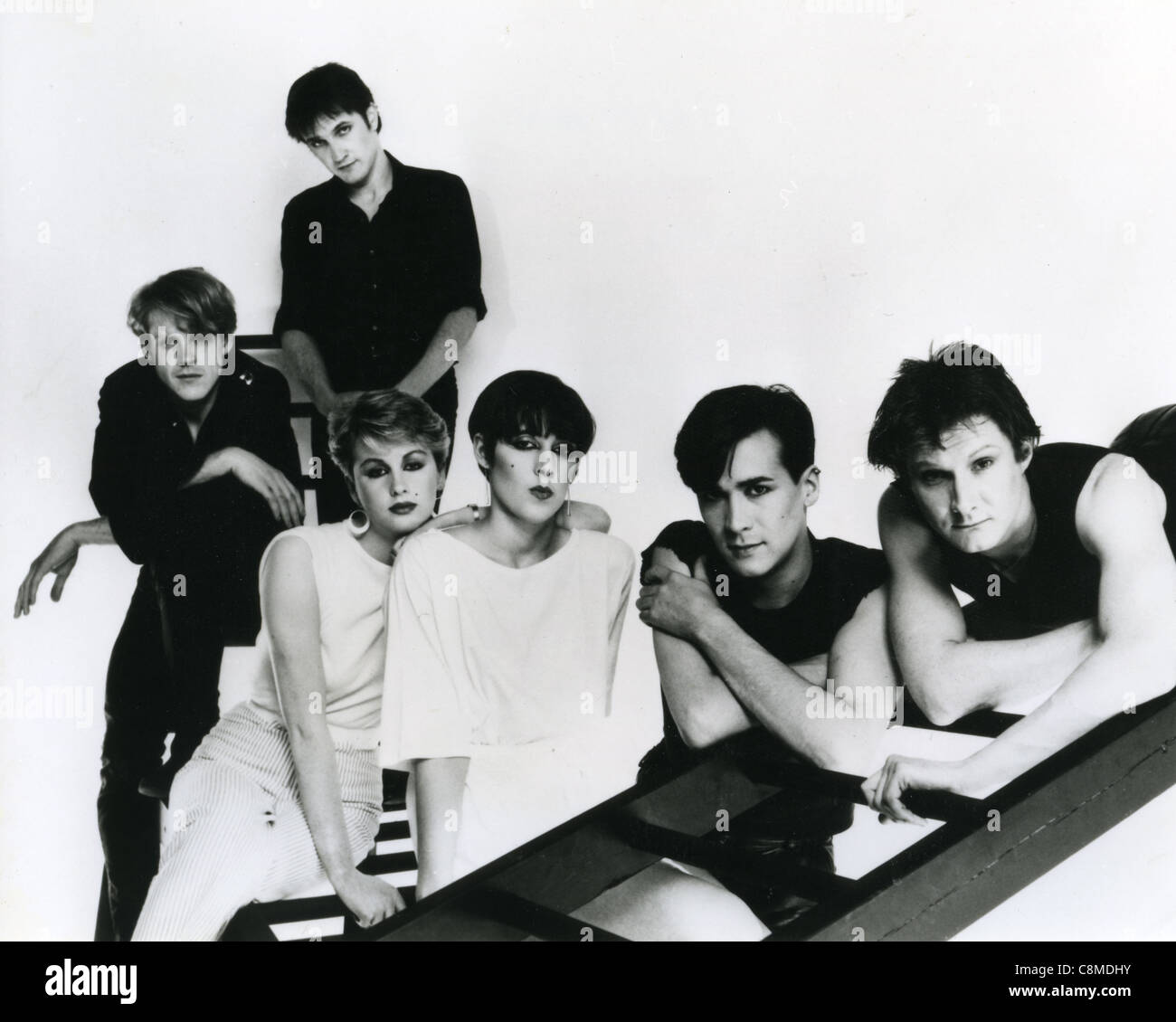 HUMAN LEAGUE  Promotional photo of UK pop group about 1981 Stock Photo