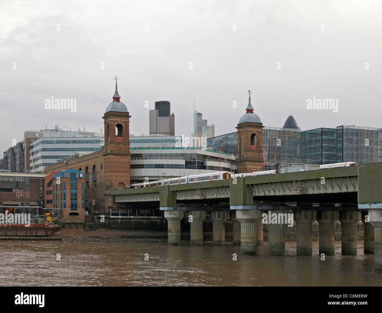 London Cannon street station from Southwark - Stock Image