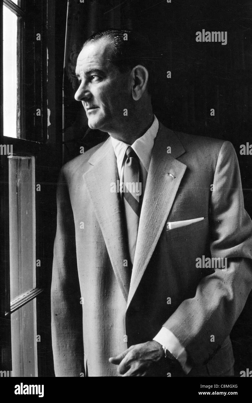 Lyndon B. Johnson was the 36th President of the United States - Stock Image