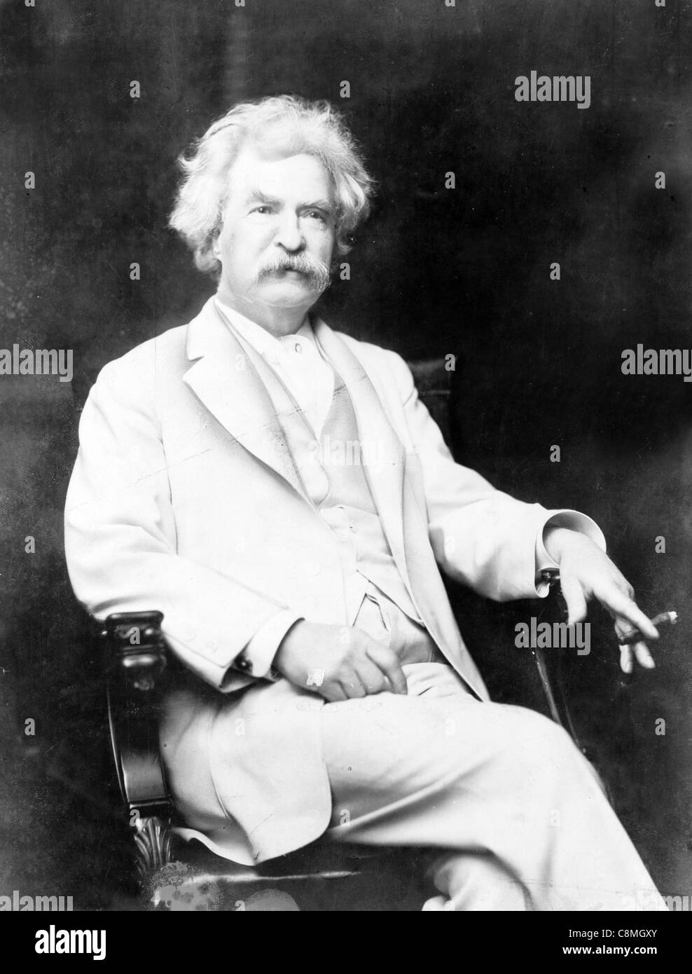 Mark Twain or Samuel Langhorne Clemens - Stock Image