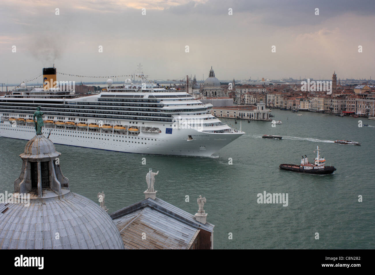 Cruise ship Costa Fortuna in Venice - Stock Image