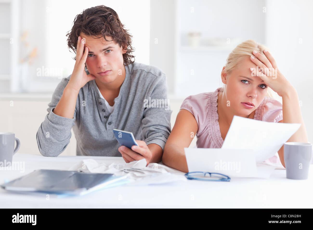 Worn down couple - Stock Image