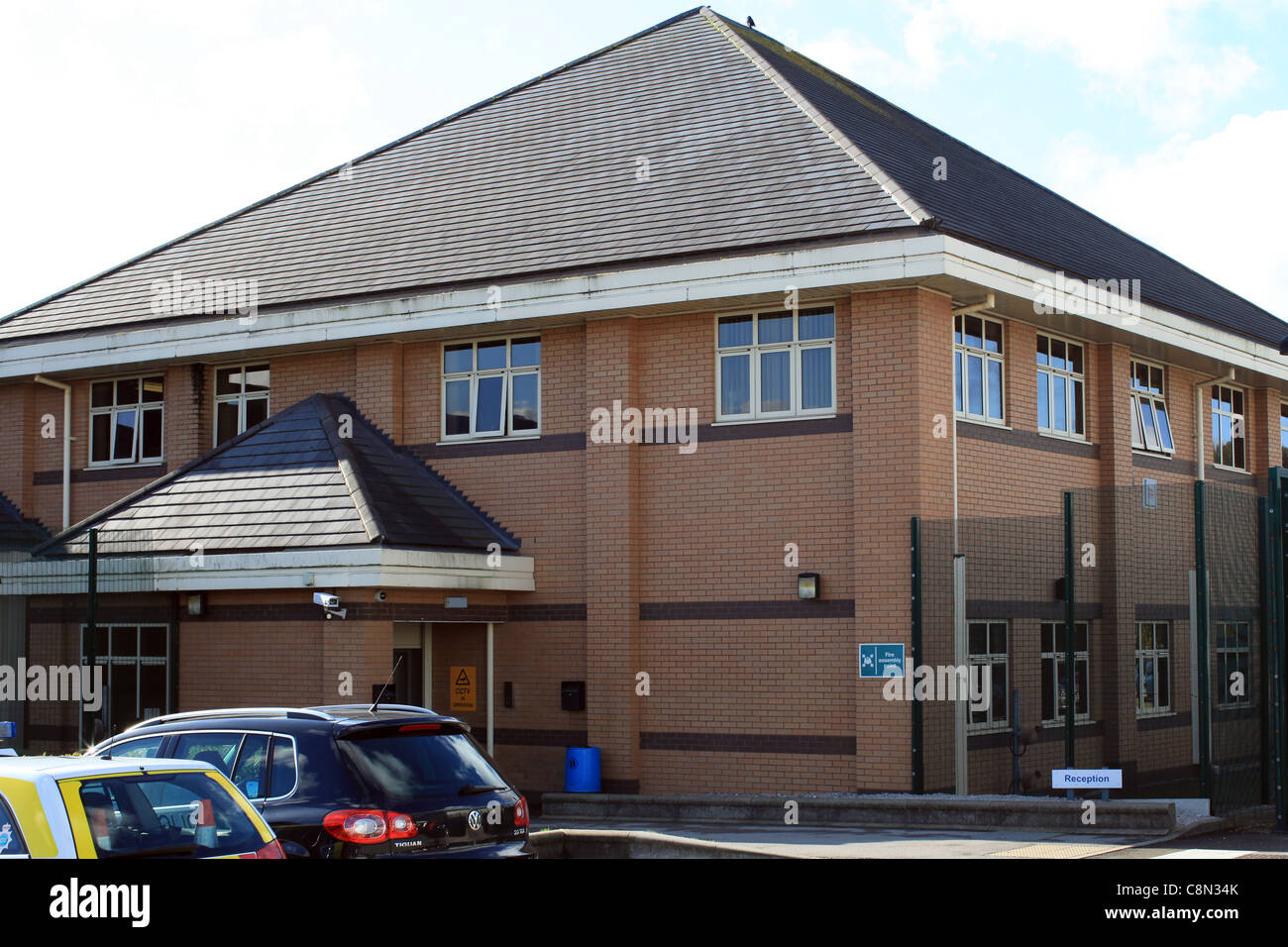 stoke on trent north staffordshire police custody suite in etruria,stoke on trent - Stock Image