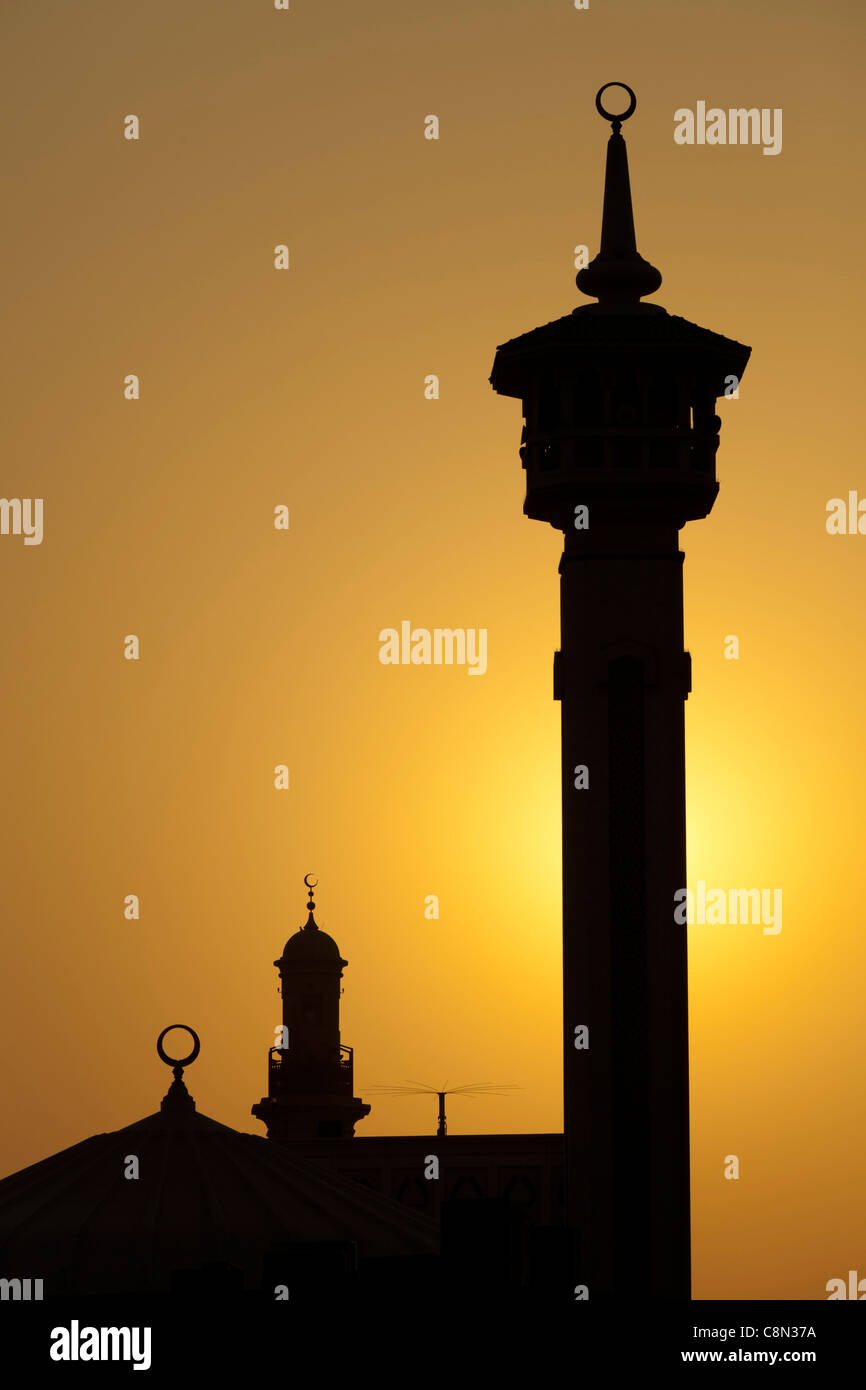 Diwan Rulers office, Government Administrative Building, sunset, Bur Dubai, United Arab Emirates, UAE - Stock Image