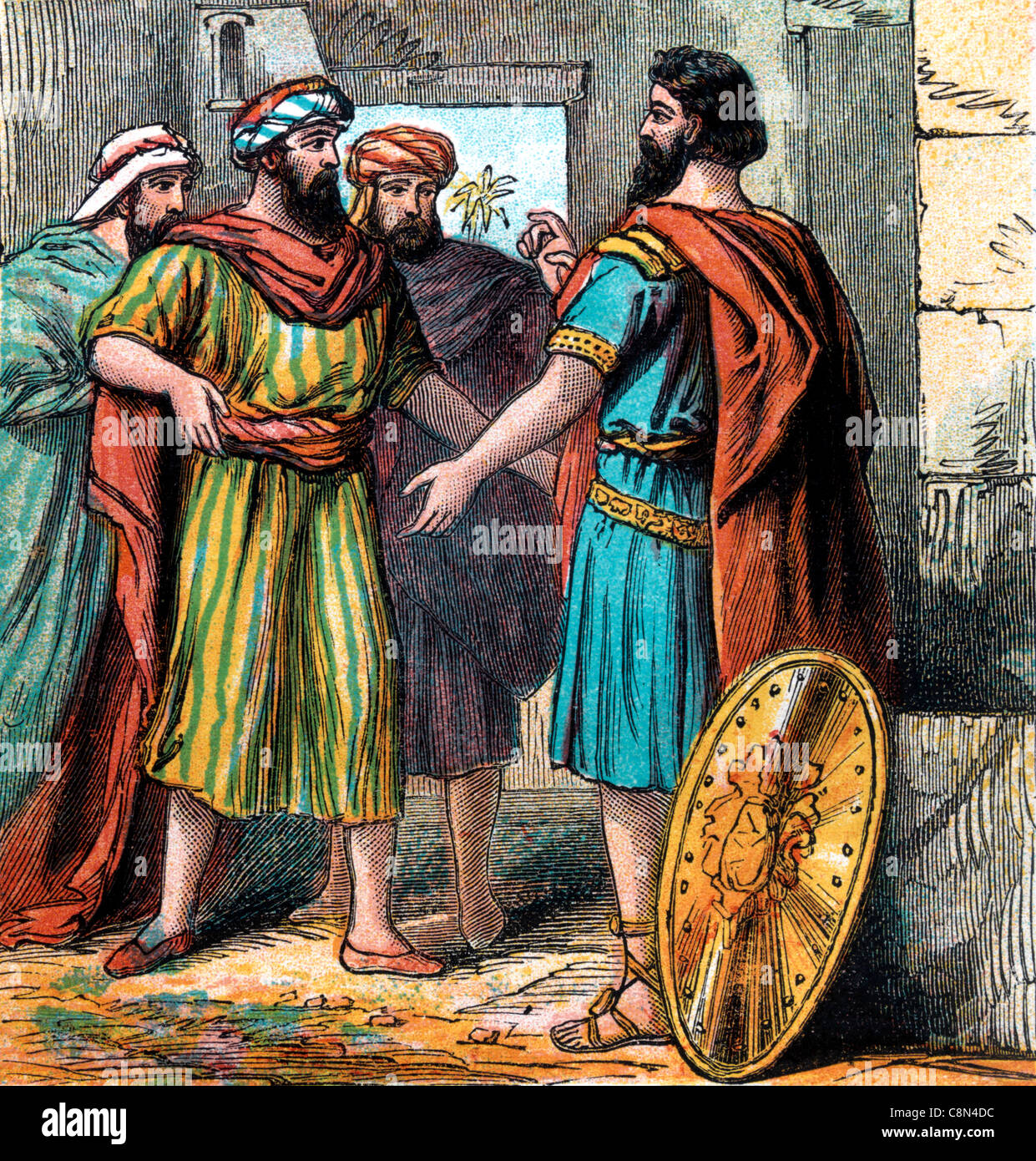 Bible Stories- Illustration Of Gideon's Countrymen Offering Him To Be King - Stock Image