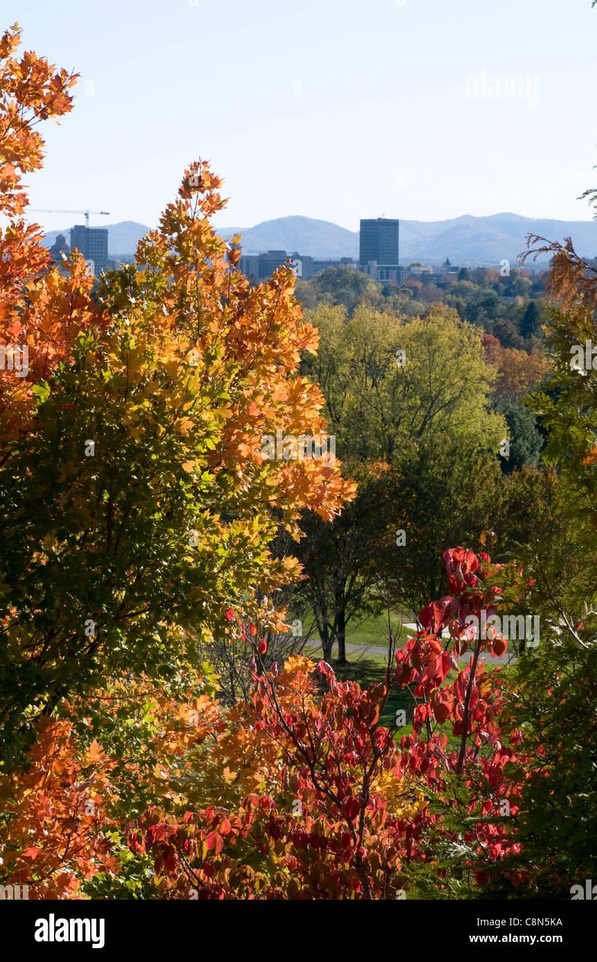 Fall in Asheville North Carolina - Stock Image