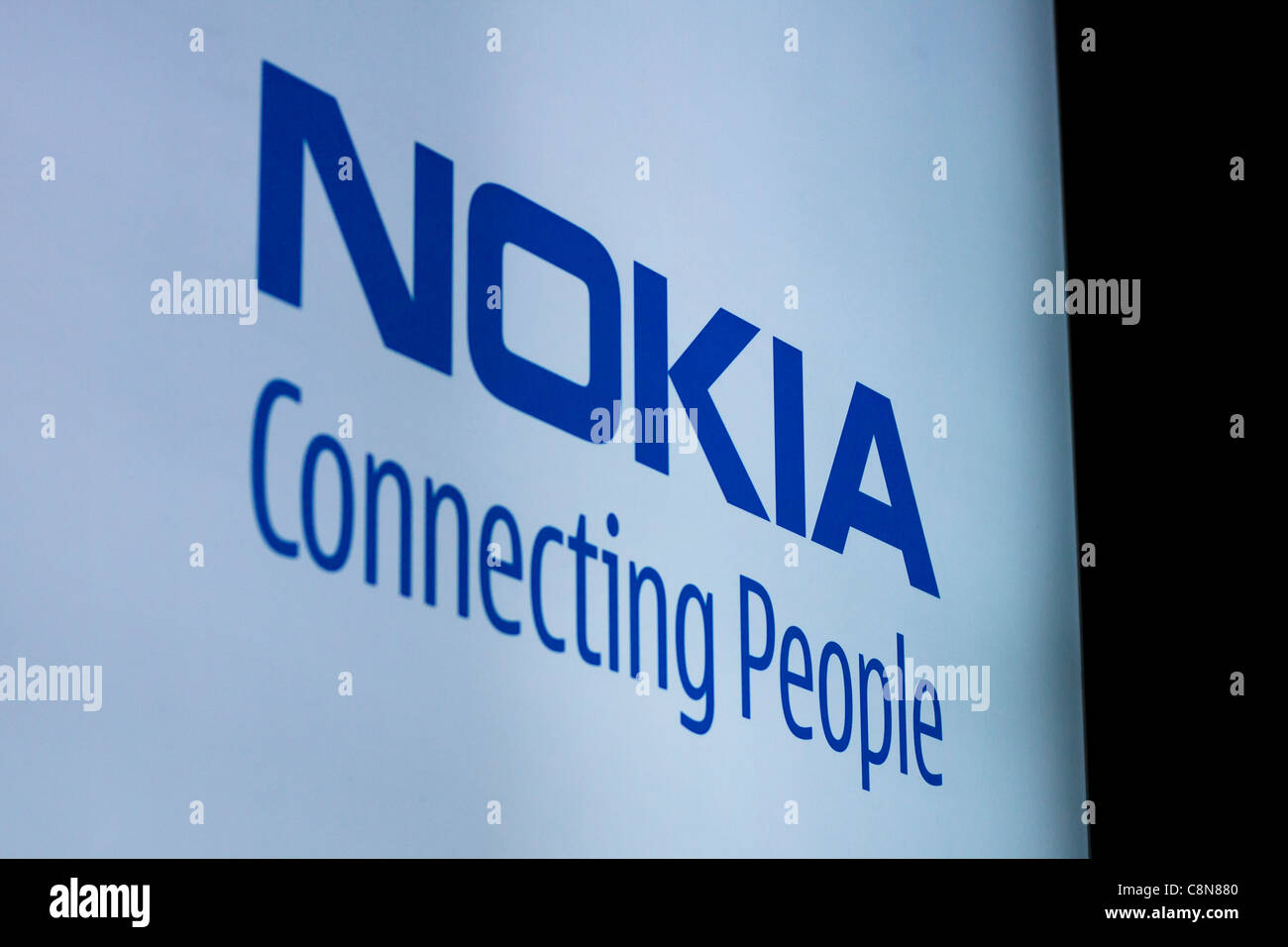 Detail of Nokia sign. - Stock Image