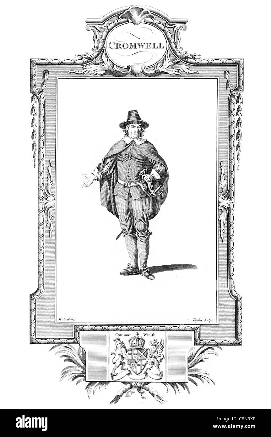 Oliver Cromwell 1599 1658 military political leader English monarchy republican Commonwealth Lord Protector commander - Stock Image