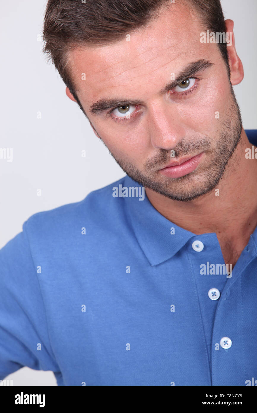 Man looking angry Stock Photo