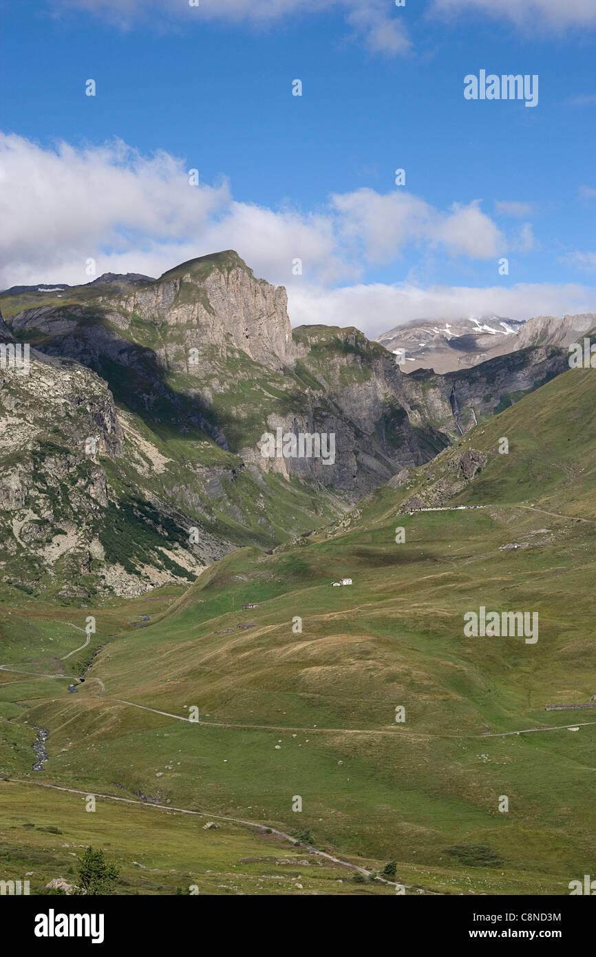 Italy, Piemonte, Valle d'Aosta, Passo del Piccolo San Bernardo, mountain pass - Stock Image