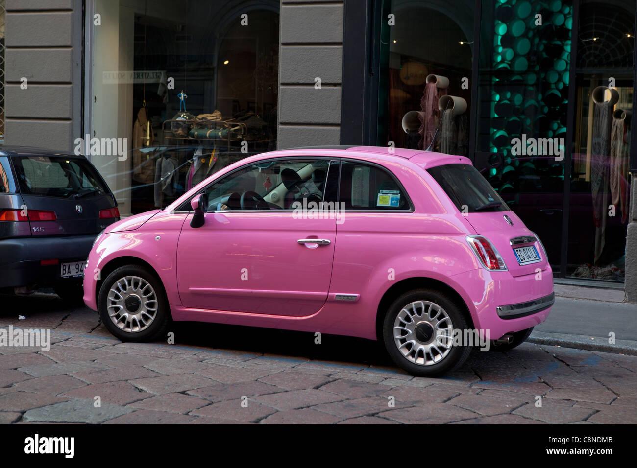 Fiat 500 Pink Car Stock Photos Fiat 500 Pink Car Stock Images Alamy
