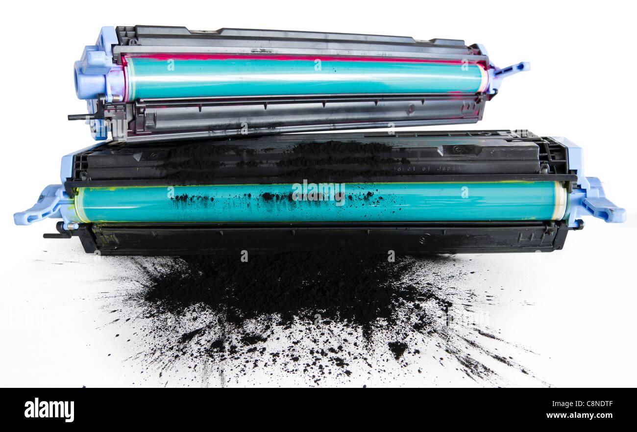 Refurbished Printer Cartidge. Cylinder Replacement And Toner Refill - Stock Image