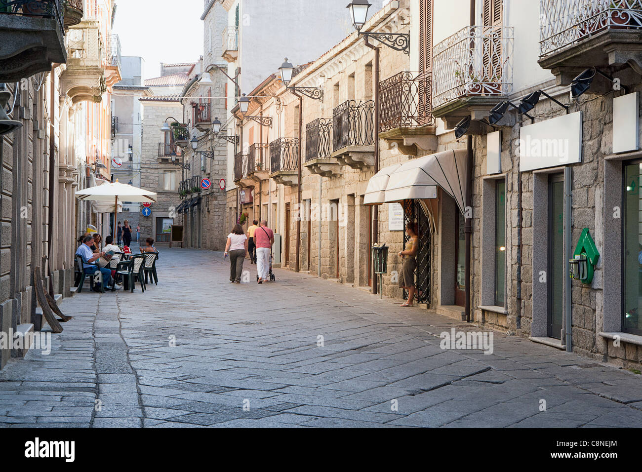 italy sardinia tempio pausania street in the old quarter stock photo 39810476 alamy. Black Bedroom Furniture Sets. Home Design Ideas