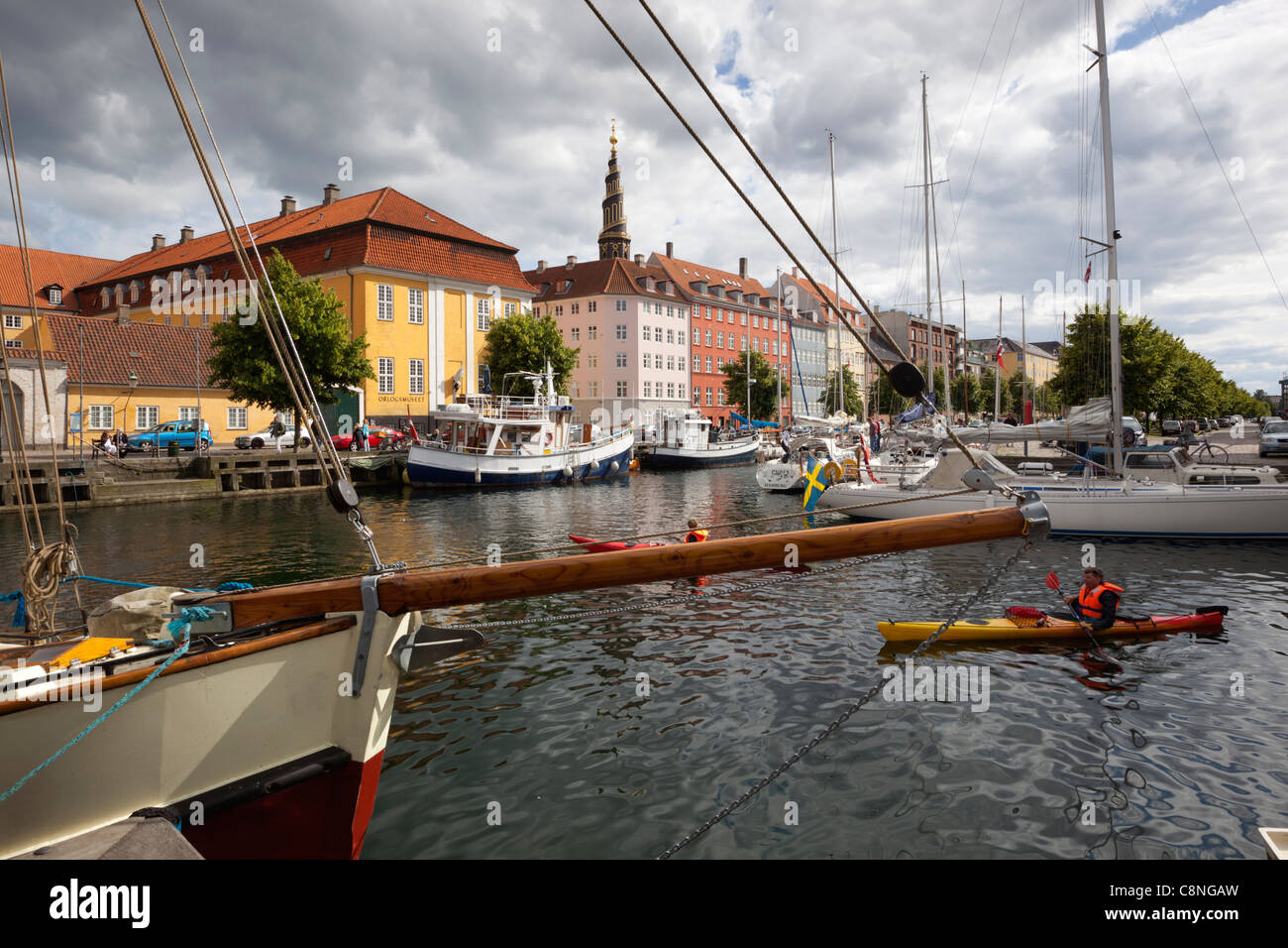 View along Christianshavns Kanal - Stock Image